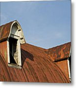 Abandoned Building Roof 1 A Metal Print