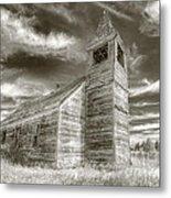Abandoned Church Flora Oregon Metal Print