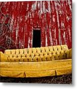 Abandoned Couch Metal Print