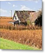 Abandoned Farmhouse In Field 4 Metal Print