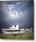 Abandoned Fishing Boat In Washington State Metal Print