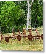 Abandoned Hay Rake 2 Metal Print