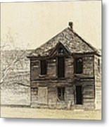 Abandoned Homestead - Okanogan Washington Metal Print