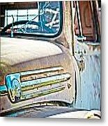 Abandoned Red Truck Metal Print