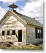 Abandoned Rural School House Metal Print