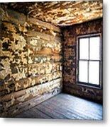 Abandoned Smoky Mountains Farm House - The Window Metal Print