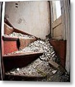 Abandoned Stairs Metal Print