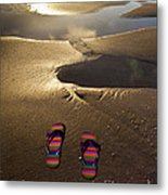 Abandoned Thongs Metal Print by Avalon Fine Art Photography
