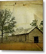 Abandoned Tobacco Barn Metal Print