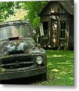 Abandoned Truck At Post Office Metal Print