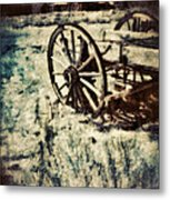 Abandoned Wagon By Old Ghost Town. Metal Print