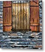 Abandoned Wood Building Metal Print