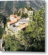 Abbey St Martin Du Canigou France Metal Print by Marilyn Dunlap