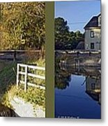 Abbotts Pond - Gently Cross Your Eyes And Focus On The Middle Image Metal Print