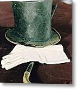 Aberaham Lincolns Hat, Cane And Gloves Metal Print