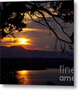Abiquiu Sunset Metal Print
