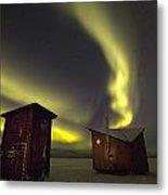 Abisko, Sweden. The Abisko Ark Hotel Metal Print