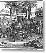 Abolitionist Cartoon Entitled, Our Metal Print