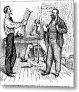 Abolitionist Newspaper Metal Print