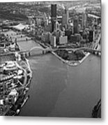 Above Pittsburgh  Metal Print by Emmanuel Panagiotakis