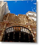 Above The Front Entry San Xavier Mission Metal Print