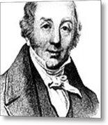 Abraham Colles, Irish Surgeon & Metal Print