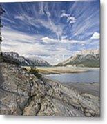 Abraham Lake Created By Bighorn Dam Metal Print