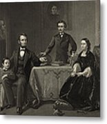 Abraham Lincoln And Family Metal Print