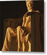 Abraham Lincoln Statue In Lincoln Metal Print