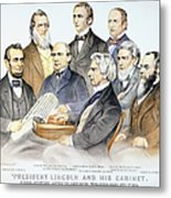 Abraham Lincolns Cabinet Metal Print by Granger