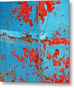 Abstrac Texture Of The Paint Peeling Iron Drum Metal Print