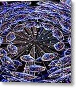 Abstract - Blue Diamonds Metal Print