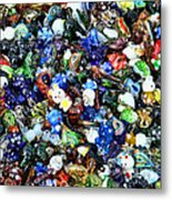 Abstract - Colored Glass Characters Metal Print
