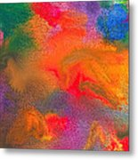 Abstract - Crayon - Melody Metal Print
