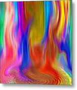 Abstract - Pooling Waterfall Metal Print by Steve Ohlsen