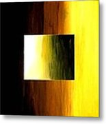 Abstract 3d Golden Square Metal Print