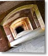 Abstract Archways Fort Point Metal Print