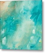 Abstract Art Colorful Bright Pastels Original Painting Spring Is Here II By Madart Metal Print