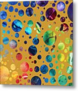 Abstract Art Digital Pixelated Painting Image Of Beauty Of Color By Madart Metal Print
