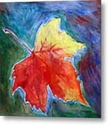 Abstract Autumn Metal Print by Shakhenabat Kasana