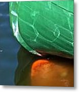 Abstract Boat Stern Metal Print
