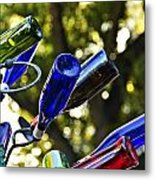 Abstract Bottle Structure Metal Print