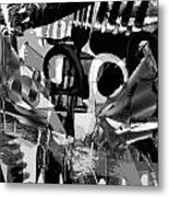 Abstract Composition Of Kitchen Utensils Metal Print