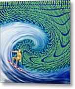 Abstract Computer Artwork Of Surfing The Internet Metal Print by Laguna Design