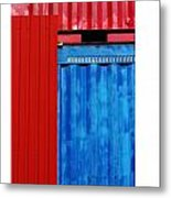 Abstract Construction Metal Print by Xoanxo Cespon
