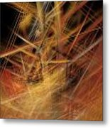 Abstract Crisscross Metal Print