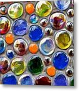 Abstract Digital Art Multi Colored Glass Balls Metal Print