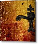Abstract Door Metal Print