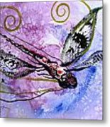 Abstract Dragonfly 6 Metal Print