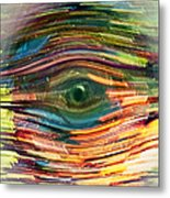 Abstract Eye Metal Print